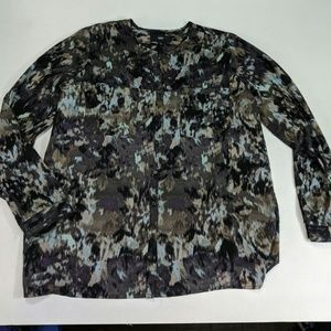 Mossimo purple marbled blousw button down